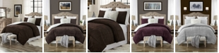 Cathay Home Inc. Plush Faux Fur and Sherpa Reversible King/Cal King Comforter Set