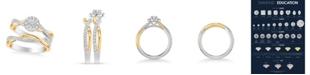 Macy's Diamond Halo Bridal Set (7/8 ct. t.w.) in 14k Two Tone White & Yellow Gold or White & Rose Gold