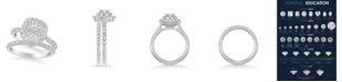 Macy's Diamond Halo Bridal Set (1 1/2 ct. t.w.) in 14k White, Yellow or Rose Gold