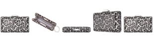 Nina Exotica Crystal Leopard Minaudiere Clutch