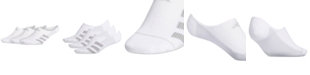 adidas Men's 3-Pk. Superlite 3-Stripe No-Show Socks