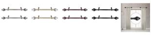 "Rod Desyne Opal 1"" Side Curtain Rod 12-20"" (Set of 2)"