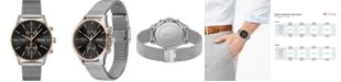 BOSS Men's Chronograph Associate Stainless Steel Mesh Bracelet Watch 42mm