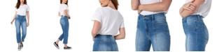 Kendall + Kylie Juniors' Karpenter High Rise Straight-Leg Jeans