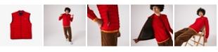 Lacoste Men's Lightweight Foldable Water-Resistant Puffer Vest