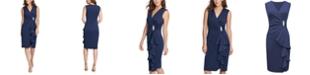 Jessica Howard Surplice Sheath Dress