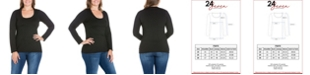 24seven Comfort Apparel Women's Plus Size Long Sleeves T-Shirt