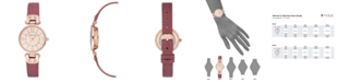 Anne Klein Mauve Genuine Leather Strap 26mm