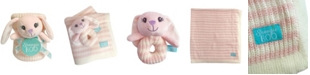 """Happycare Textiles Snoogie Boo Baby Premium Soft Knit Blanket and Toy Rattle Set, 40"""" x 30"""""""