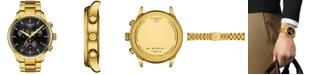 Tissot Men's Swiss Chronograph Chrono XL Classic Gold-Tone Stainless Steel Bracelet Watch 45mm