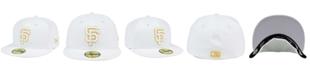 New Era San Francisco Giants White On Metallic 59FIFTY Cap