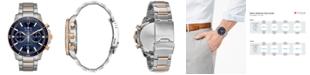 Bulova Men's Chronograph Marine Star Two-Tone Stainless Steel Bracelet Watch 45mm