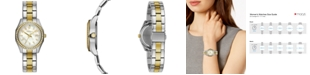 Caravelle  Women's Two-Tone Stainless Steel Bracelet Watch 28mm