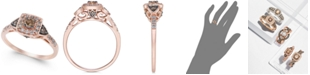 Le Vian Chocolate by Petite Chocolate and White Diamond Ring (3/8 ct. t.w.) in 14k Rose, Yellow or White Gold