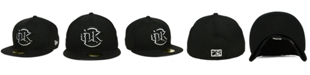New Era Oklahoma City Redhawks Black and White 59FIFTY Fitted Cap