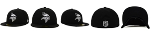 New Era Minnesota Vikings Black And White 59FIFTY Fitted Cap