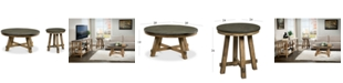 Furniture Breslin Bluestone Table Furniture, 2-Pc. Set (Round Coffee Table & Round End Table)
