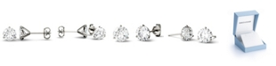 Charles & Colvard Moissanite Martini Stud Earrings (2 ct. t.w. Diamond Equivalent) in 14k White or Yellow Gold