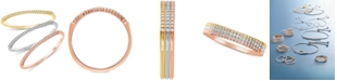 Macy's 3-Pc. Set Diamond Tricolor Bands (1/6 ct. t.w.) in 14k Gold, White Gold & Rose Gold