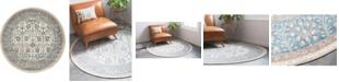 Bridgeport Home Bellmere Bel3 Ivory 4' x 4' Round Area Rug
