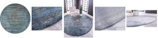"""Bridgeport Home Kenna Ken5 Dark Gray 5' 5"""" x 5' 5"""" Round Area Rug"""