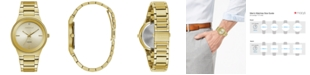 Caravelle Men's Diamond-Accent Gold-Tone Stainless Steel Bracelet Watch 40mm