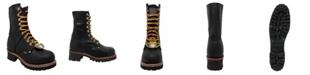 """AdTec Men's 9"""" Steel Toe Logger Boot"""