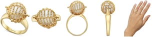 EFFY Collection EFFY® Cultured Freshwater Pearl (11-1/2mm) Statement Ring in 18k Gold-Plated Sterling Silver
