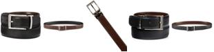 Perry Ellis Portfolio Perry Ellis Men's Saffiano Leather Reversible Belt