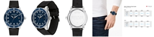 Movado Men's Swiss Heritage Series Calendoplan Black Leather Strap Watch 43mm