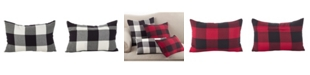 "Saro Lifestyle Buffalo Check Plaid Design Cotton Throw Pillow, 13"" x 20"""