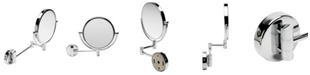 ALFI brand Round Wall Mounted 5x Magnify Cosmetic Mirror