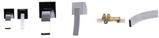ALFI brand Polished Chrome Single Lever Wallmount Bathroom Faucet