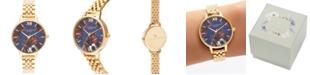 Olivia Burton Women's Gold-Tone Stainless Steel Bracelet Watch 34mm