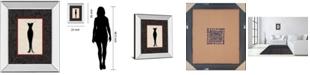 """Classy Art Fashion Dress I by Susan Osbourne Mirror Framed Print Wall Art, 22"""" x 26"""""""