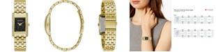 Caravelle Women's Gold-Tone Stainless Steel Bracelet Watch 21x33mm