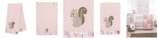 NoJo Countryside Floral Appliqued Baby Blanket