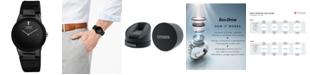 Citizen Men's Eco-Drive Axiom Black Leather Strap Watch 40mm AU1065-07E
