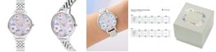 Olivia Burton Women's Groovy Blooms Stainless Steel Bracelet Watch 34mm