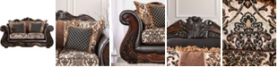 Furniture of America Robinette Upholstered Love Seat