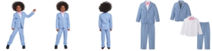 Nautica Toddler Boys 4-Pc. Blue Windowpane Suit Set