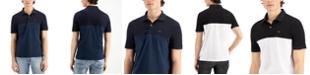 A|X Armani Exchange Men's Two Tone Logo Polo Shirt