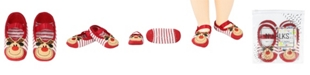 NWALKS Baby Boys and Girls Anti-Slip Socks with Reindeer Applique