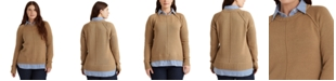 Lauren Ralph Lauren Plus-Size Layered Cotton Sweater