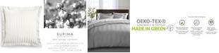 "Charter Club 1.5"" Stripe 100% Supima Cotton 550 Thread Count Euro Sham, Created for Macy's"