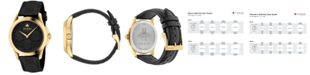 Gucci Unisex Swiss G-Timeless Black Leather Strap Watch 38mm