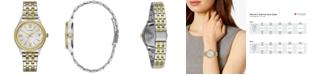 Caravelle  Women's Two-Tone Stainless Steel Bracelet Watch 32mm