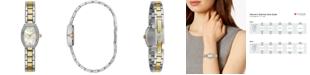 Caravelle  Women's Two-Tone Stainless Steel Bracelet Watch 18x24mm