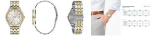 Caravelle  Men's Two-Tone Stainless Steel Bracelet Watch 41mm