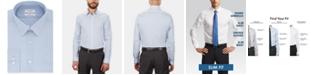 Calvin Klein Calvin Klein Men's STEEL Slim-Fit Non-Iron Performance Stretch Blue Check Dress Shirt